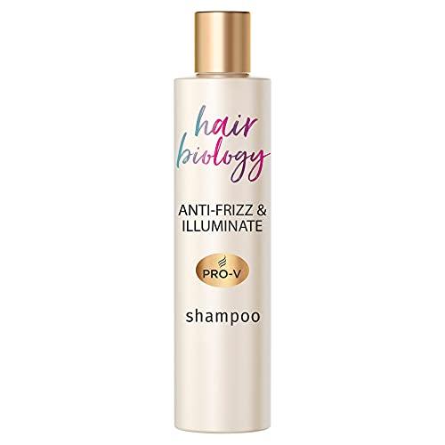 Hair Biology Anti-Frizz & Illuminate Shampoo, 250ml, Für Widerspenstiges Oder Trockenes Und Coloriertes Haar, Haarpflege, Haarpflege Trockenes Haar, Shampoo Damen, Mit Hyaluronsäure, Ohne Farbstoffe