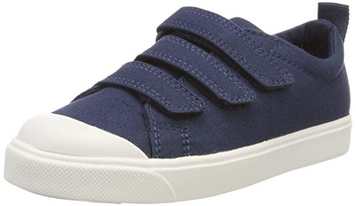 Clarks Jungen City FlareLo K Slipper, Blau (Navy Canvas), 33 EU
