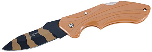 Herbertz Erwachsene Taschenmesser, Stahl 420, zweifarbig beschichtet, Back Lock, Kunststoff-Griff, Fangriemenöse, Mehrfarbig, One Size