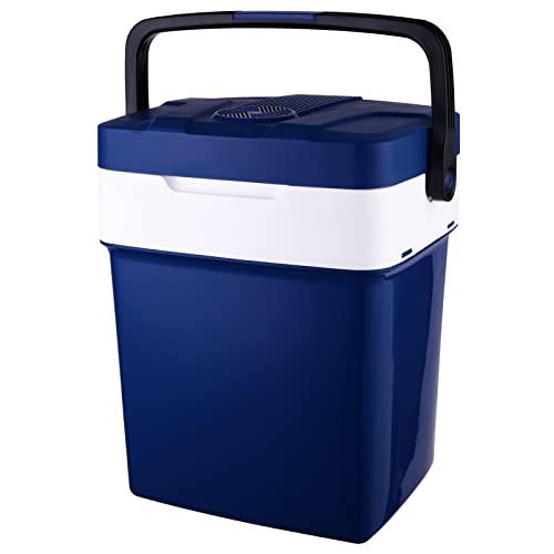Kühlbox Auto Kühlbox 12V 230V Kühlbox Elektrische Kühlbox Auto Kühlschrank Kühltasche Elektrisch Kühlboxen Elektrisch Auto AC/DC Steckdose, Kühlbox Auto 12V, 30QT (MEHRWEG)