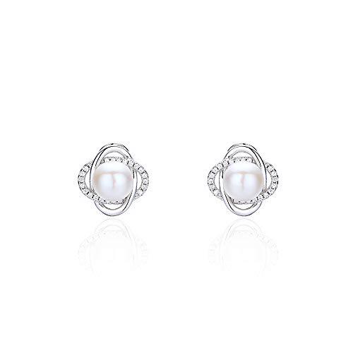 S925 zilveren oorbel met natuurparels en parels voor dames, met naam van temperament-oorbellen