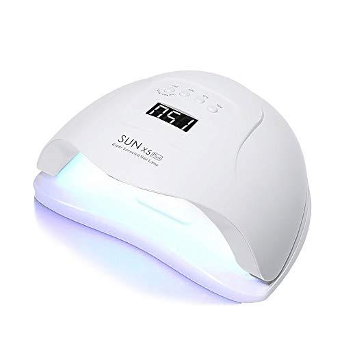 Czcrw Secador de uñas Sun 5X Plus UV Lámpara LED for uñas Secador 48W Lámpara de Hielo for manicura Gel Lámpara de uñas Lámpara de Secado for Barniz de Gel
