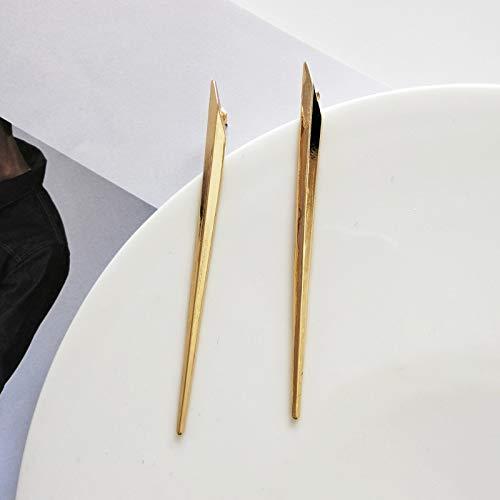 FEARRIN Pendientes para Mujer Stud Breve diseño Simple Personalidad Única aleación de ZincPendiente deOropara Mujer Joyería Goldstud