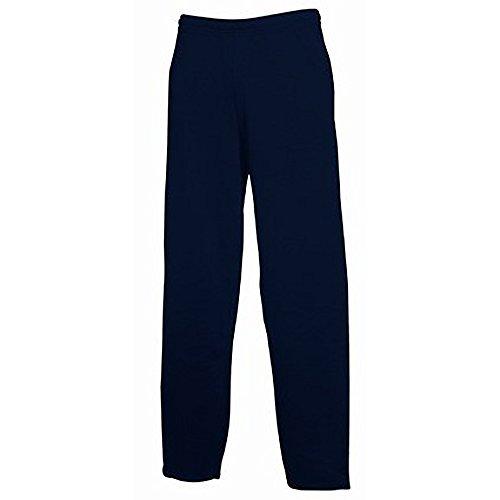Fruit of The Loom - Pantalones de chándal Modelo Open Hem con bajo Abierto Hombre Caballero (Grande (L)/Azul Oscuro)