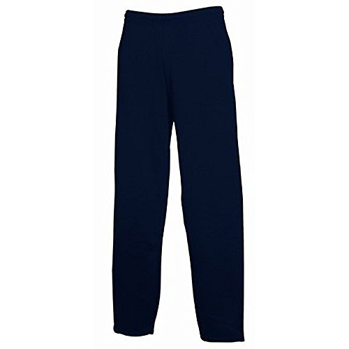 Fruit of The Loom - Pantalones de chándal Modelo Open Hem con bajo Abierto Hombre Caballero (Extra Grande (XL)/Azul Oscuro)