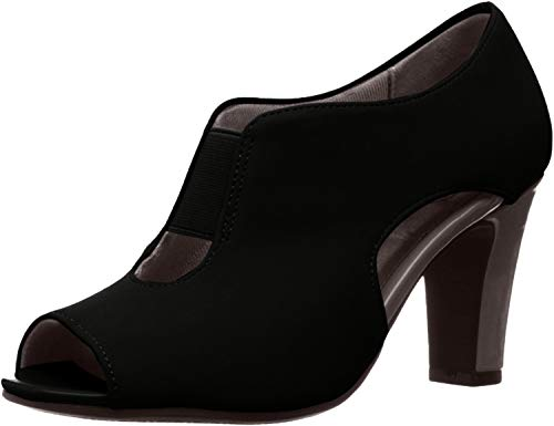 LifeStride Women's Carla Dress Pump, Black, 6.5 W US