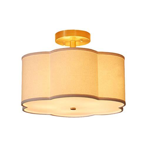 Lampe De Plafond De Tissu De Pays D'Amérique Nordic Restaurant Chambre Étude Lampe De Plafond Lampe De Table De Cuivre Enfants Lumière De Luxe Éclairage