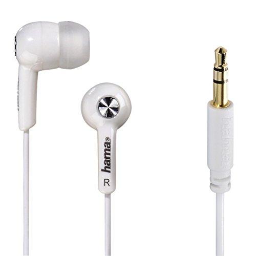 Hama Basic Weiß im Ohr - Kopfhörer (im Ohr, Verkabelt, 20-20000 Hz, 96 dB, 1,2 m, Weiß)