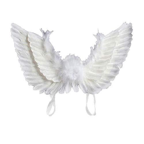 JTWEB - Disfraz infantil de alas de ángel, para Halloween, carnaval, fiestas