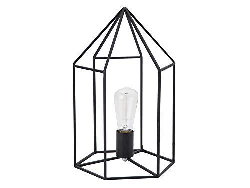 Luminaire Alamao, Lampe fliaire métal, 40 W, noir, L25 x H26 cm