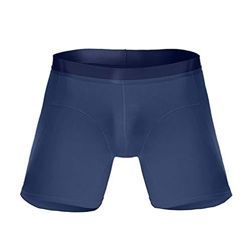 KaloryWee Herren Boxershorts Sport Höschen Einfarbig Lang Running Wear Leg Männer Multifunktions-Boxershorts Bequem Men's Pants Mehrfachauswahl