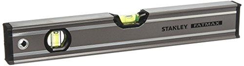 Stanley FatMax Wasserwaage Pro (40 cm Länge, horizontale/vertikale Libelle, Schutzkappen, Bi-Material Handgriff) 0-43-616
