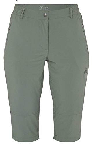 McKINLEY Damen Outdoor-Wander-Caprihose 3/4 Hose Hailey grün Bergsport, Größe:48