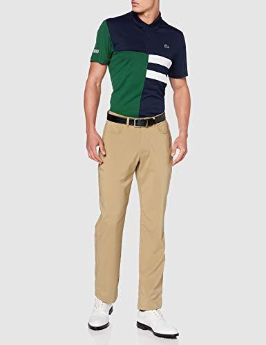 Lacoste Men's Dh2025 Polo Shirt, Navy/Green-White-White, X-Large