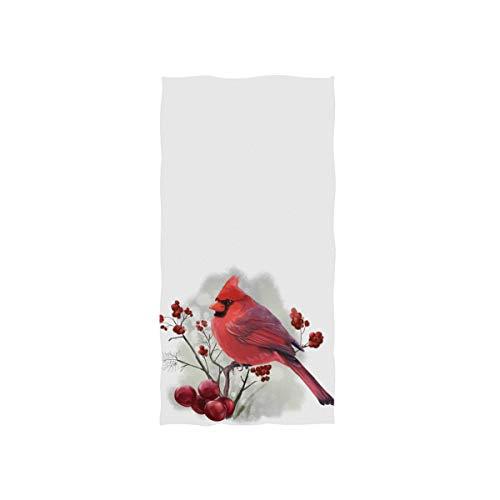 Winter Bird Cardinal Hand Towel