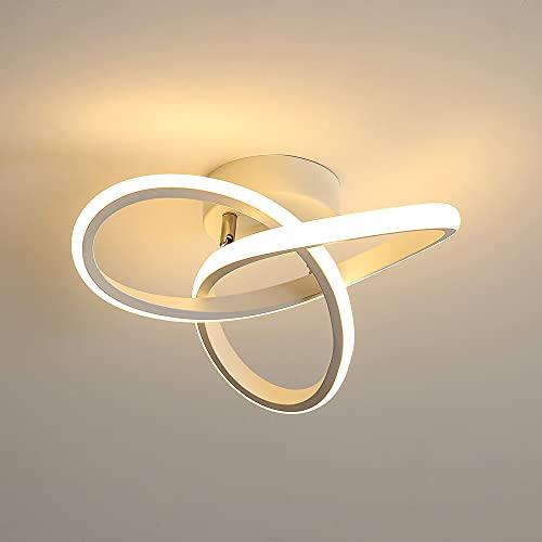 Osairous Plafoniera LED, Lampada da soffitto in acrilico 23W, Plafoniera dimmerabile 3000K/4000K/6000K per Cucina, Soggiorno, Camera da letto, Diametro 24cm