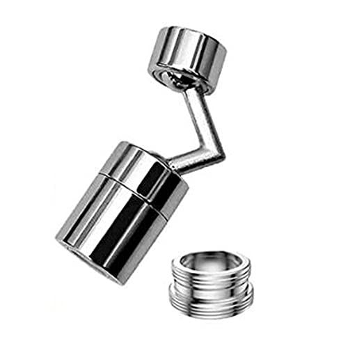 WYZQ Grifo de Cocina Cabezal rociador Filtro de Salpicaduras Universal Grifo Girar Salida de Agua 720 ° Lavabo de baño Alargar Extensor Grifo Aireador Accesorios de Cocina (A), Trampas