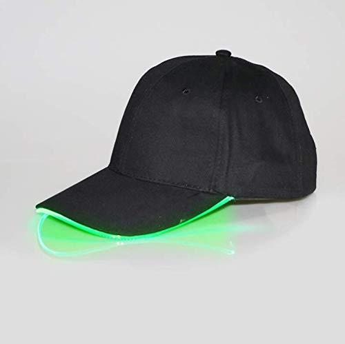 1 gorra de béisbol LED multicolor para disfraz, regalos de Navidad, Halloween, fiestas de disfraces