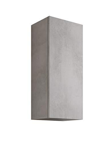 MaMa Store Atena - Armario Individual Reversible con Sistema de Apertura Push and Pull, Laminado, Gris Cemento L. 30 x P. 22 x H. 71 cm
