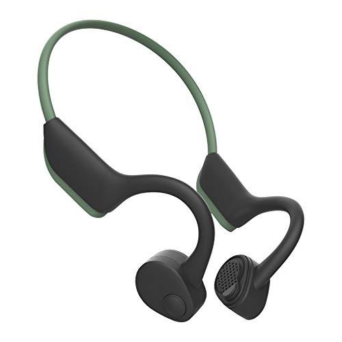 H HILABEE Auriculares Universales Inalámbricos Bluetooth V5.0 Auriculares Estéreo Auriculares Deportivos - Verde