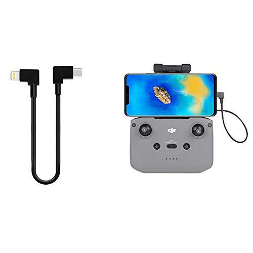 Linghuang - Cable de datos OTG C a iOS de 30 cm con doble diseño de 90 grados para DJI Mavic Air 2 mando a distancia