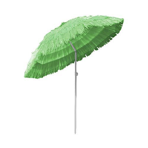 Greenbay Sonnenschirm Hawaii Strandschirm Gartenschirm Balkonschirm Schirm Ø160cm Grün