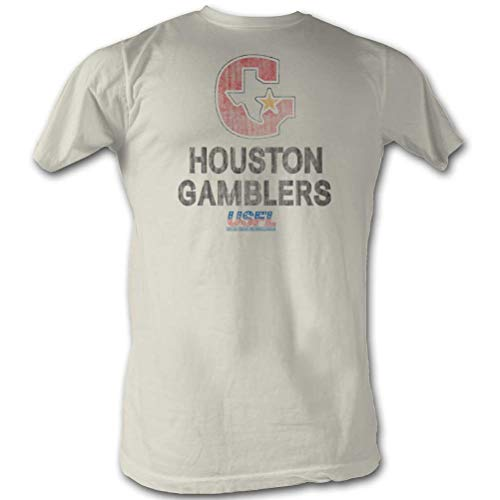 A&E Designs USFL T-Shirt Houston Gamblers Natural Tee, XL