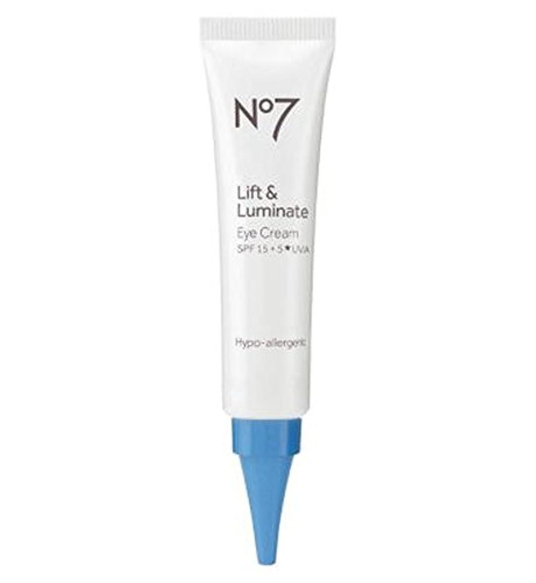 内向きカバレッジ補助No7リフト&Luminateアイクリーム (No7) (x2) - No7 Lift & Luminate Eye Cream (Pack of 2) [並行輸入品]