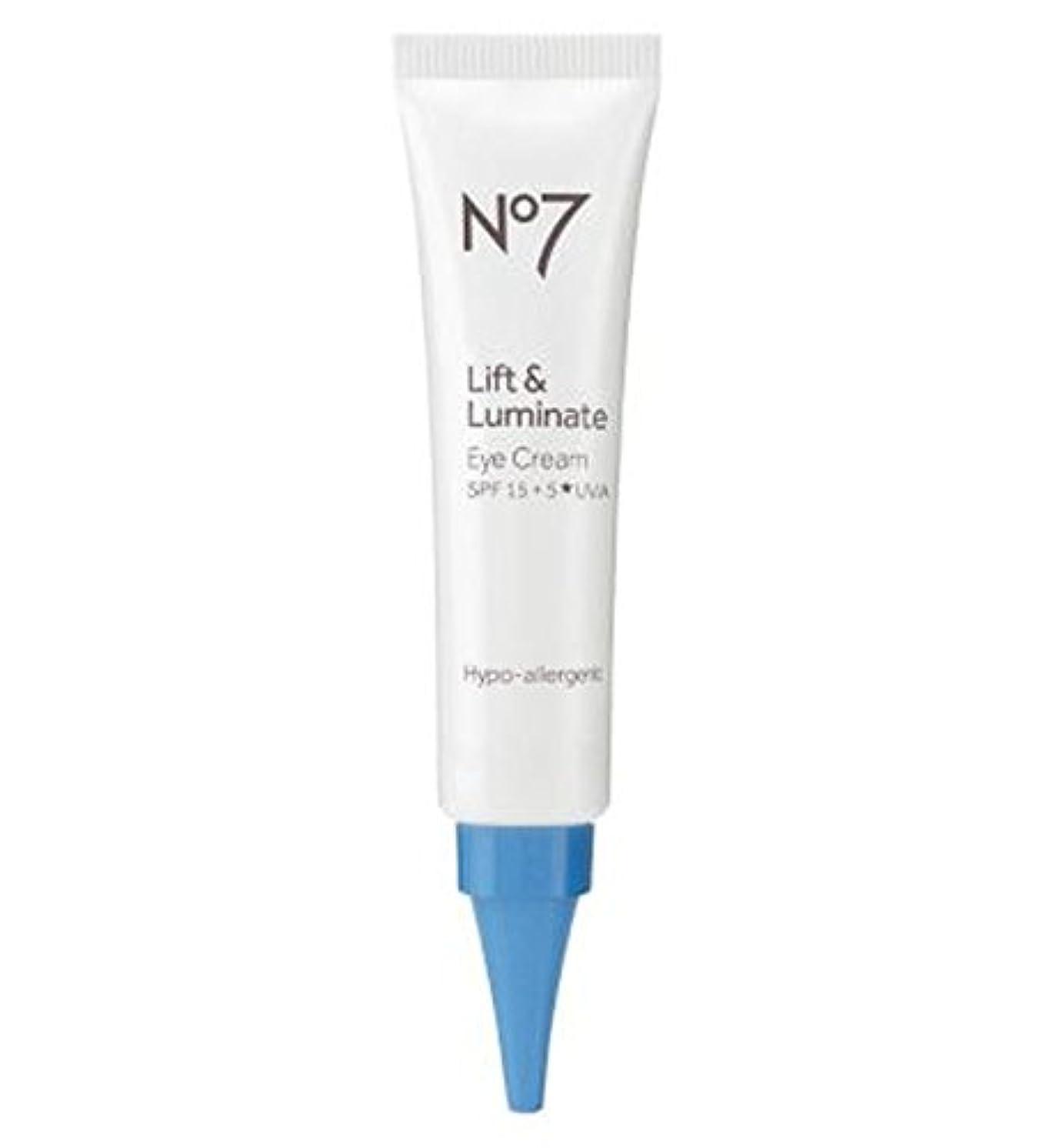 貢献する教科書火薬No7 Lift & Luminate Eye Cream - No7リフト&Luminateアイクリーム (No7) [並行輸入品]