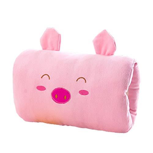 STOBOK Handwärmer Kissen Plüsch Winter Warm Schwein Design Handkissen Outdoor Plüschpuppe Spielzeug (Rosa)