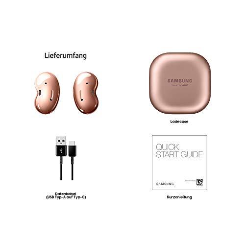 Samsung Galaxy Buds Live, Kabellose Bluetooth-Kopfhörer mit Noise Cancelling (ANC), ausdauernder Akku, Sound by AKG, komfortable Passform, Bronze (Deutche Version)