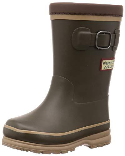 [ヒロミチナカノ] レインブーツ 靴 防寒 防滑 ゆったり 14~19cm キッズ HN WC171R ブラウン 16 cm 2E