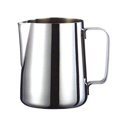 Demarkt Milchkännchen Milk Pitcher Edelstahl Milch Schalen für Milchaufschäumer Craft Kaffee Latte Milch Aufschäumen Krug Latte Art (600ml)