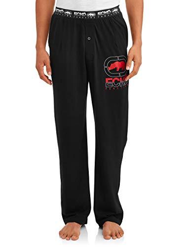 Ecko Unltd. Function Knit Sleep Pant Men's Sleepwear | Moisture Wicking Pajama Pant| 95% Cotton / 5% Spandex| Black X-Large