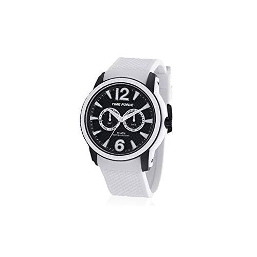 Time Force Reloj analogico para Hombre de Cuarzo con Correa en Caucho TF4182M18