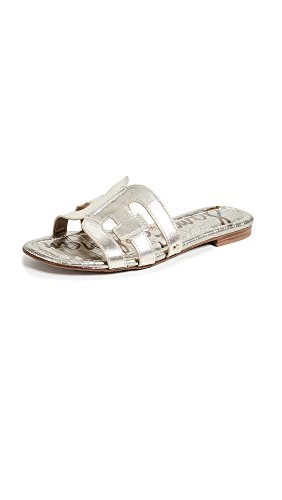 Sam Edelman Women's Bay Slide Sandal, Jute Metallic Leather, 8 M US