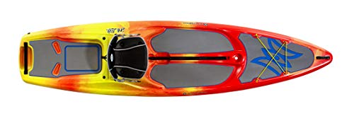 Perception Kayaks Hi Life 11 | Sit on Top Kayak - SUP/Paddleboard | Hybrid Boat with Seat Storage/Cooler | 11' | Sunset, (Model: 9351599042)