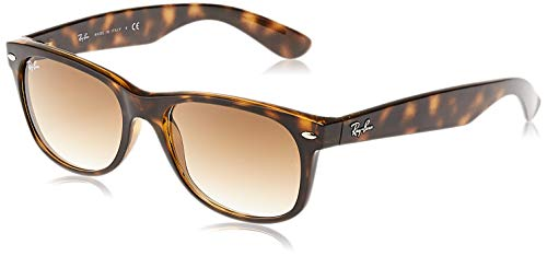 Ray-Ban RB2132 New Wayfarer Sunglasses, Light Tortoise/Brown Gradient, 55 mm