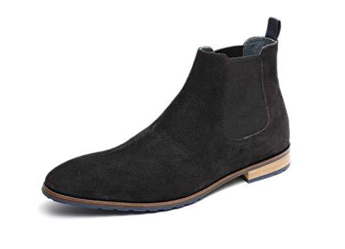 Gordon & Bros. Herren Stiefeletten City BT S181837, Männer Chelsea Boots, Herren Maenner maennliche maskulin rustikal robust,Black,41 EU / 7 UK