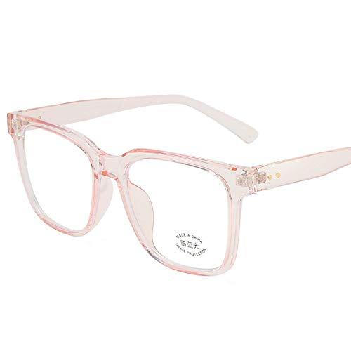 SHENSHI Gafas Luz Azul,Gafas Unisex Retro Cuadradas Anti-Azules, Antideslumbrante Que Alivian La Fatiga Ocular, Gafas Ligeras para Mujeres/Hombres, Accesorios De Oficina para Estudiantes, Rosa