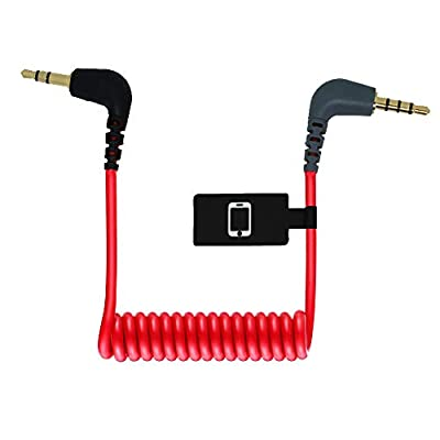Aisnyho 3.5mm TRS to TRRS Microphone Patch Cable for External Compact On-Camera Mic Connect To Smartphones