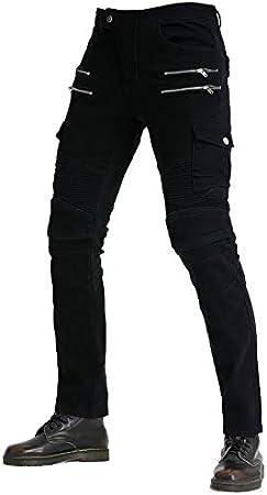Blau, M // 33W WCCI Herren Motorradhose Motorrad Jeans Biker Trousers Motorrad Hose Fahrrad Riding Schutzhose,4 x Schutz ausr/üstung