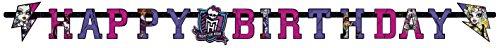 amscan - 552518 - Guirlande Happy Birthday Monster High 2 - 180 x 15 cm