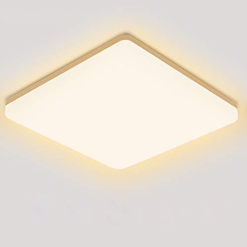LED Deckenleuchte Warmweiß, Oeegoo LED Deckenlampe 2700K, 18W 1800lm Badleuchte, Wasserfest IP44 Küchenlampe Für Badezimmer Balkon Wohnzimmer Korridor Esszimmer Schlafzimmer Kinderzimmer