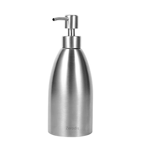 Zerodis Seifenspender Edelstahl für Flüssigseife Shampoo Lotionspender Pumpspender Küche Badezimmer 500ml