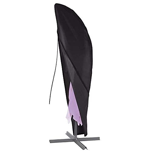 Funda protectora para sombrilla de 2 a 4 m de diámetro, con cremallera, impermeable, resistente al polvo, resistente a los rayos UV, 280 x 35/85/45 cm [132]