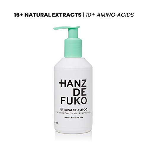 Hanz de Fuko Premium Mens Natural Shampoo- High Performance Hair Cleanser (8oz) Sulfate and Paraben Free (Packaging May Vary)