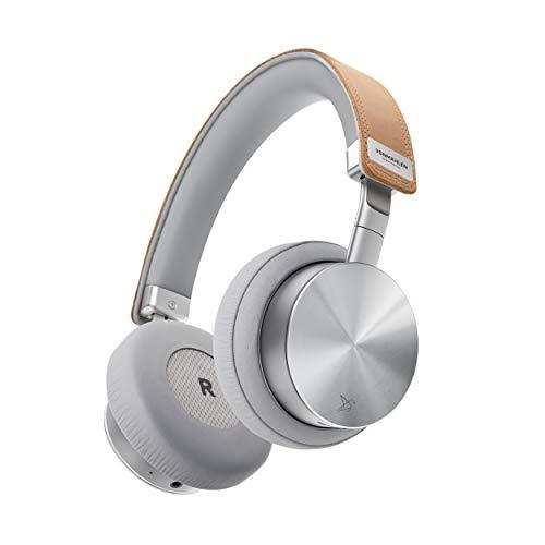 VONMÄHLEN - Wireless Concert One Bluetooth Kopfhörer On-Ear – Design Kabellose Kopfhörer mit Reise-Case, Micro-USB, Aux Kabel, Kabelmanagement (Silber)