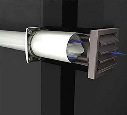Unbekannt Energiespar-Mauerkasten 150, mit Edelstahlaussengitter inox