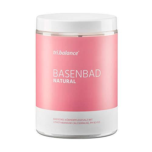 tri.balance Basenbad NATURAL 675g – Körperpflegesalz, Badesalz I Natürliche marine Calciumalge zur basischen Hautpflege I pH-Wert 8,5-9,5